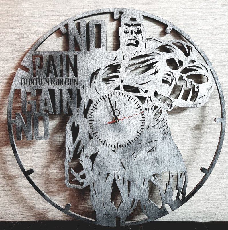 "Pulkstenis ""no pain no gain"" 50 cm"