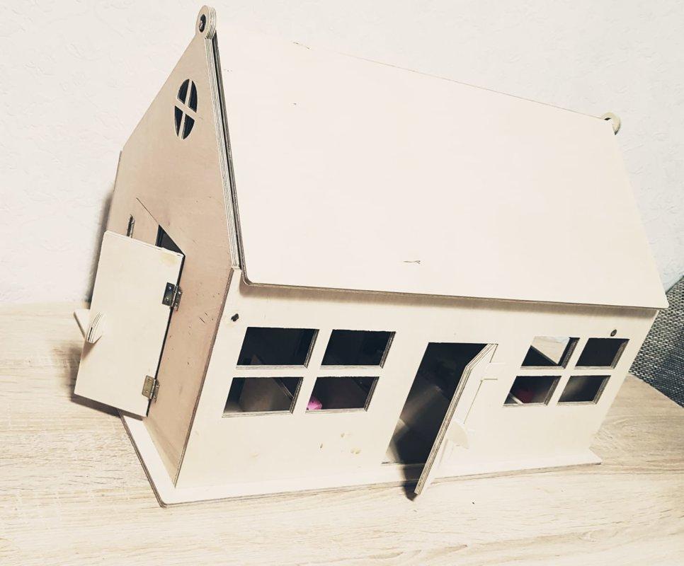 """Koka māja """"Ferma"""", 30x50x30 cm (bez dzīvniekiem)"""