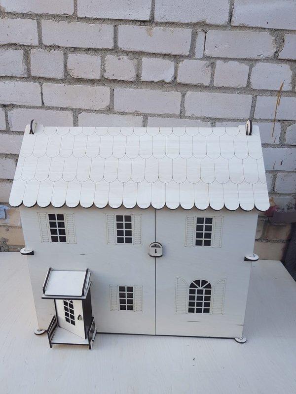 Koka Leļļu māja 60x30x60 cm