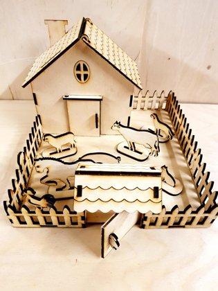 """Koka māja ar dzīvniekiem """"Lauku sēta"""""""
