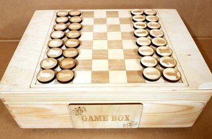 Koka kaste galda spēlēm, 30x40x10cm